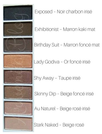Stark Naked – Au Naturel – Skinny Dip – Shy Away – Lady Godiva – Birthday Suit – Exhibitionist – Exposed – Demi-matte, charcoal